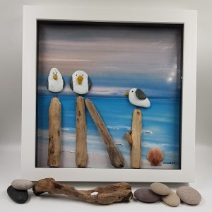 Seagull Pebble Picture