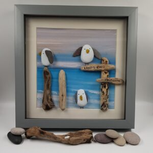 Seagull Pebble Art Picture