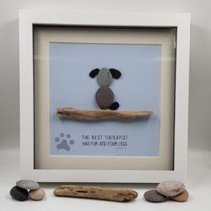 Pebble Art Dog Picture