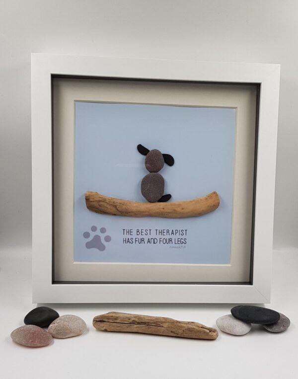 Pebble Art Dog