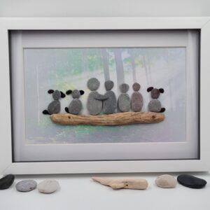Custom Family Pebble Picture