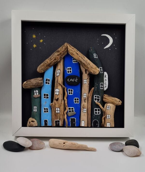Driftwood and Pebble Art Picture