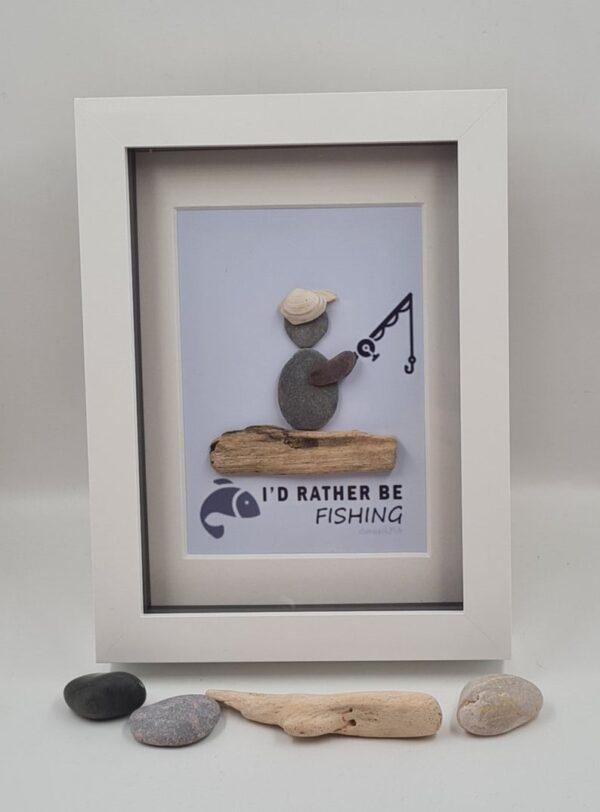 Fishing Pebble Art - Fathers Day
