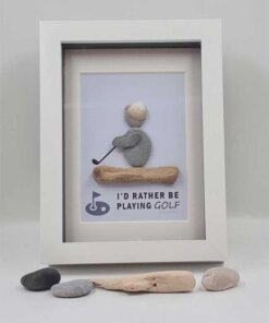 Golf Pebble Picture, Fathers Day