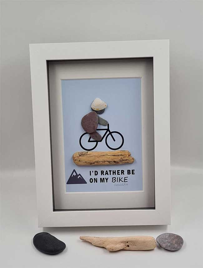 Cyclist Pebble Picture